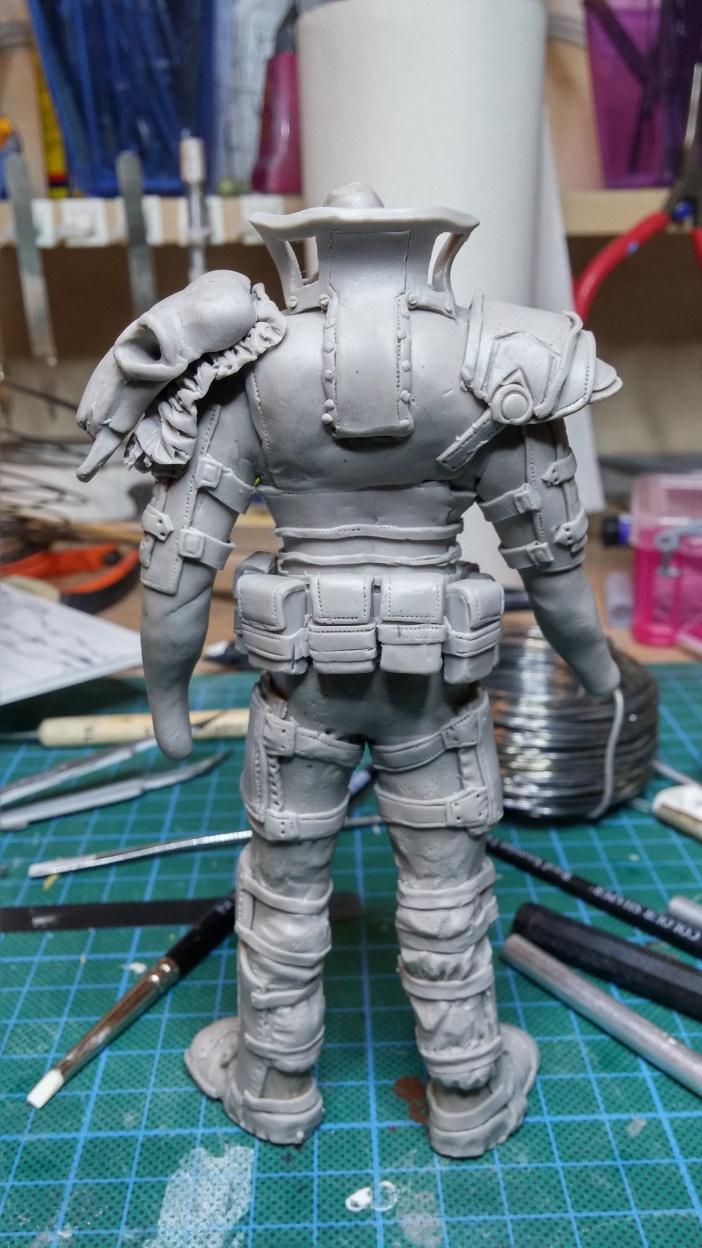 Sculpture guerrier Rage32