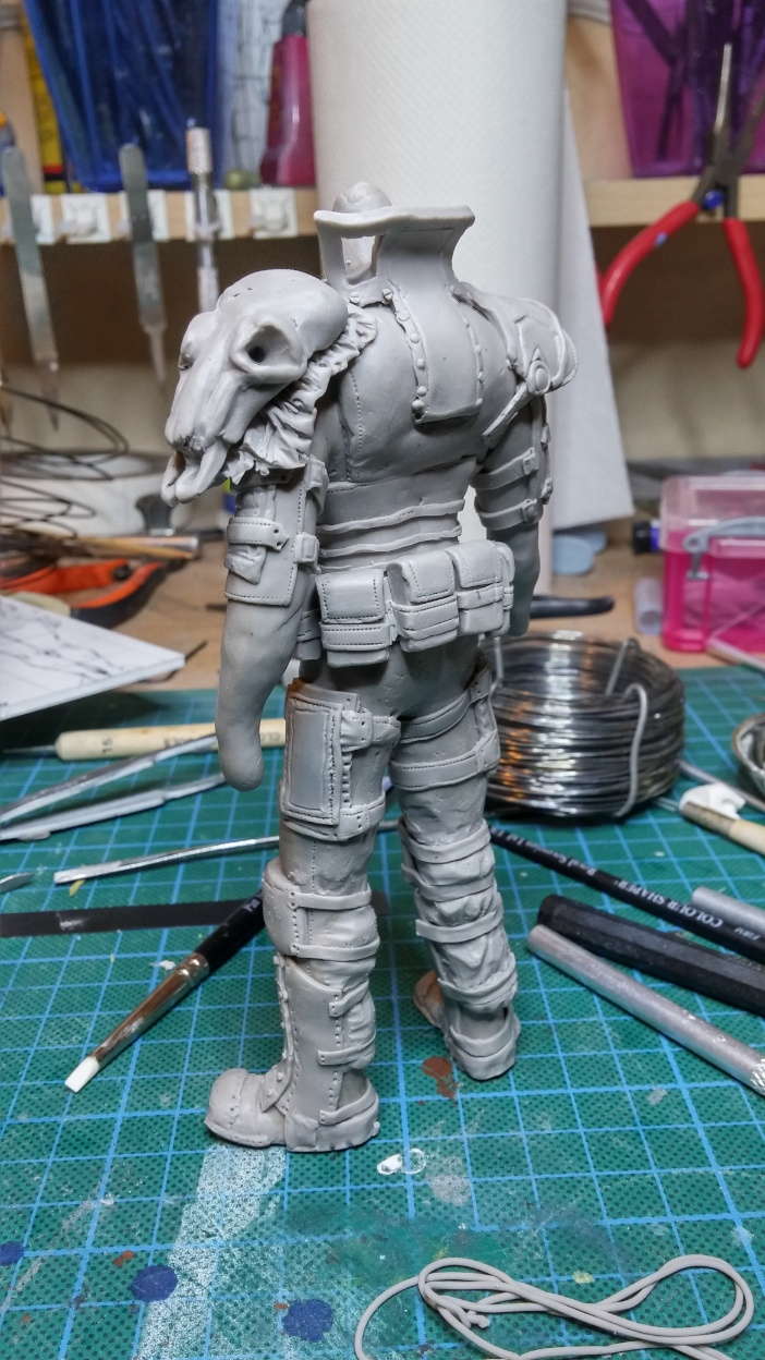 Sculpture guerrier Rage33