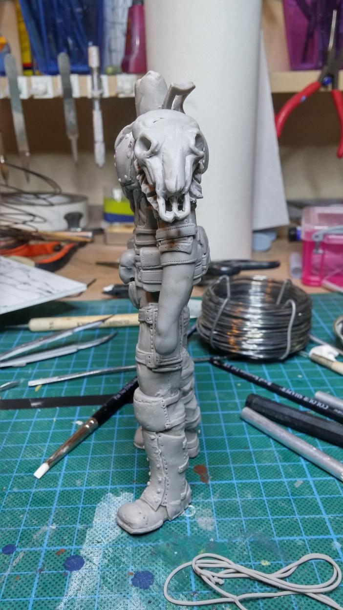 Sculpture guerrier Rage34