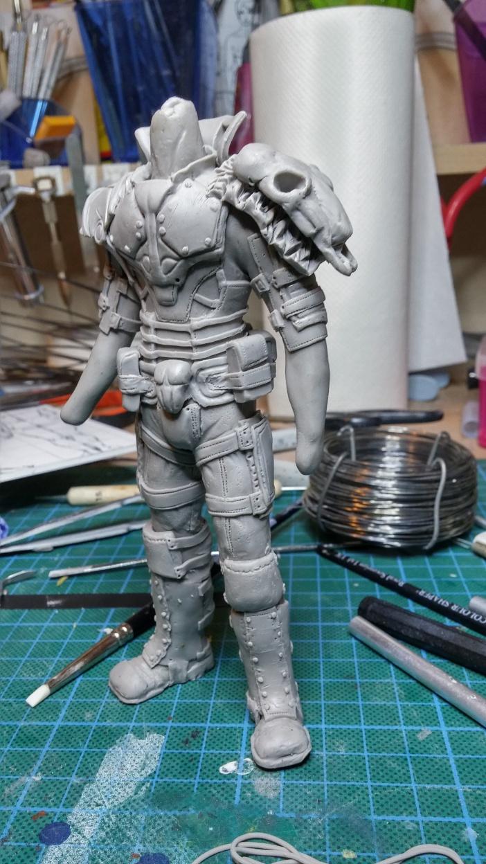 Sculpture guerrier Rage35