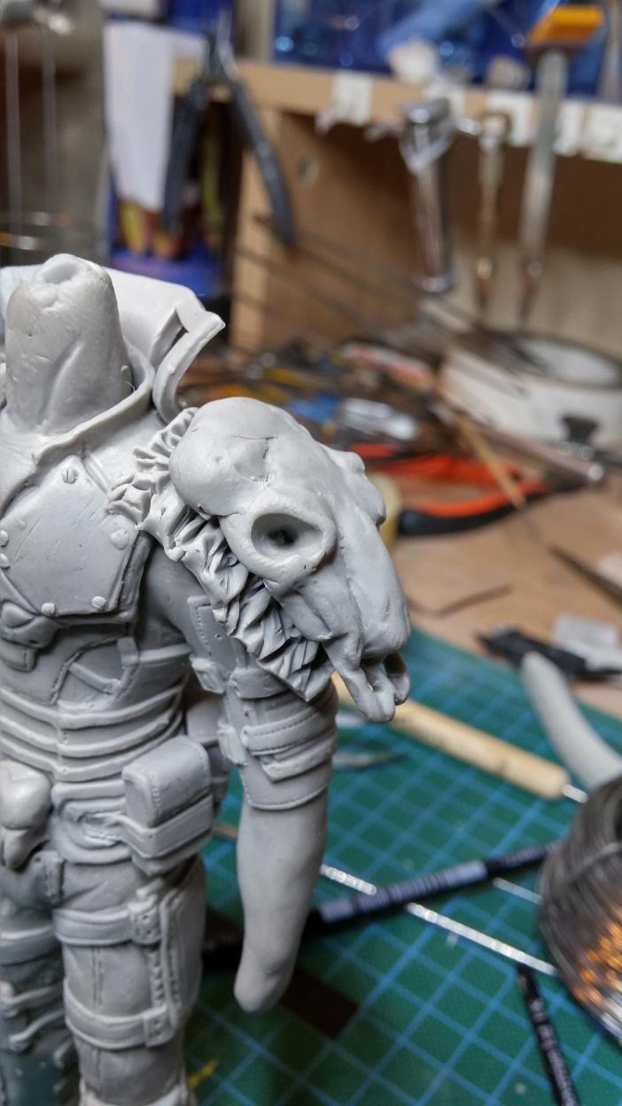 Sculpture guerrier Rage36