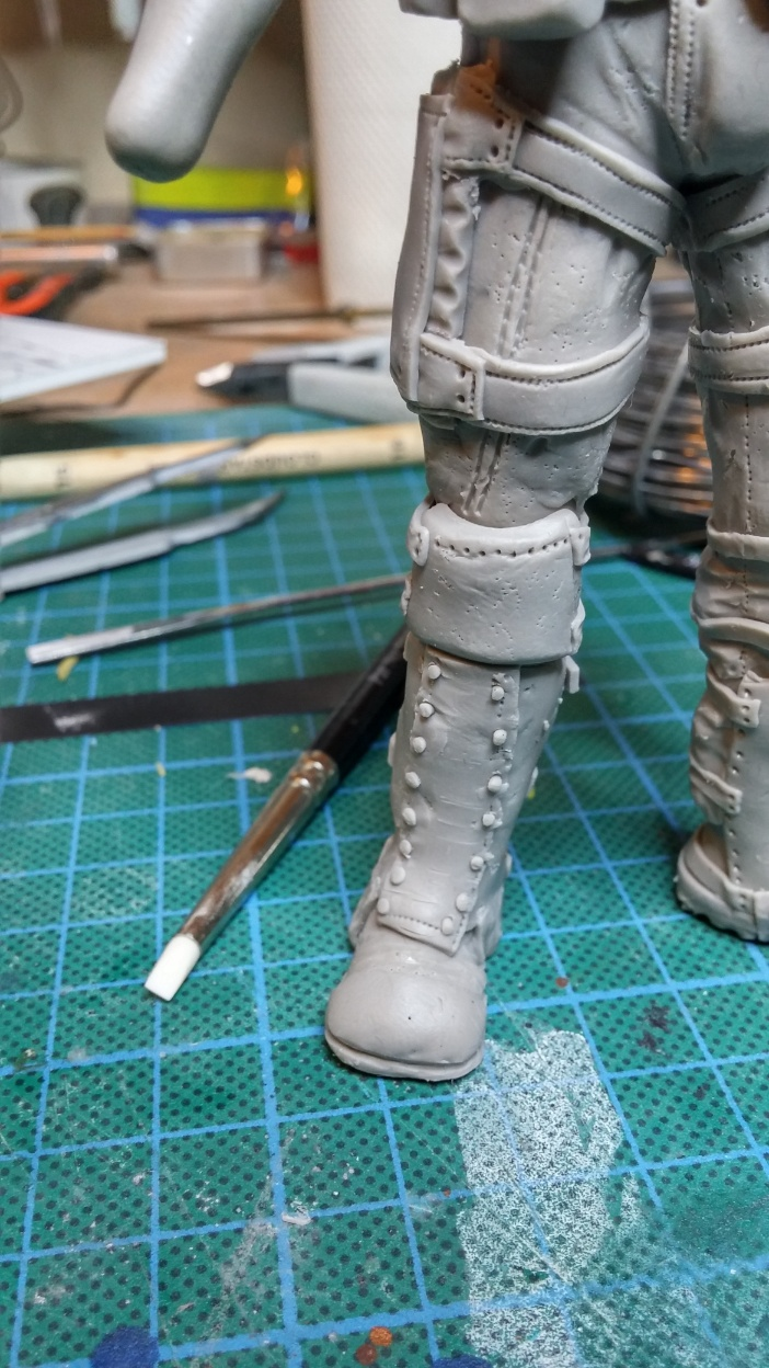 Sculpture guerrier Rage37
