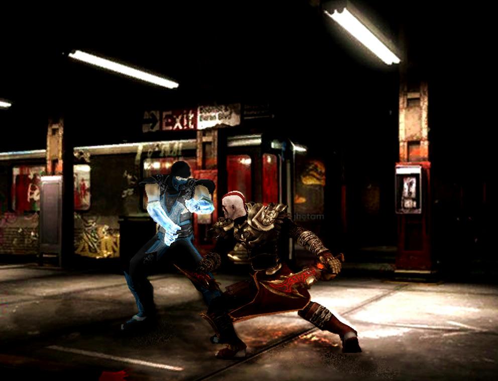 [wallpaper] Sub Zero Vs Kratos Rj51xv5az61z8uazg