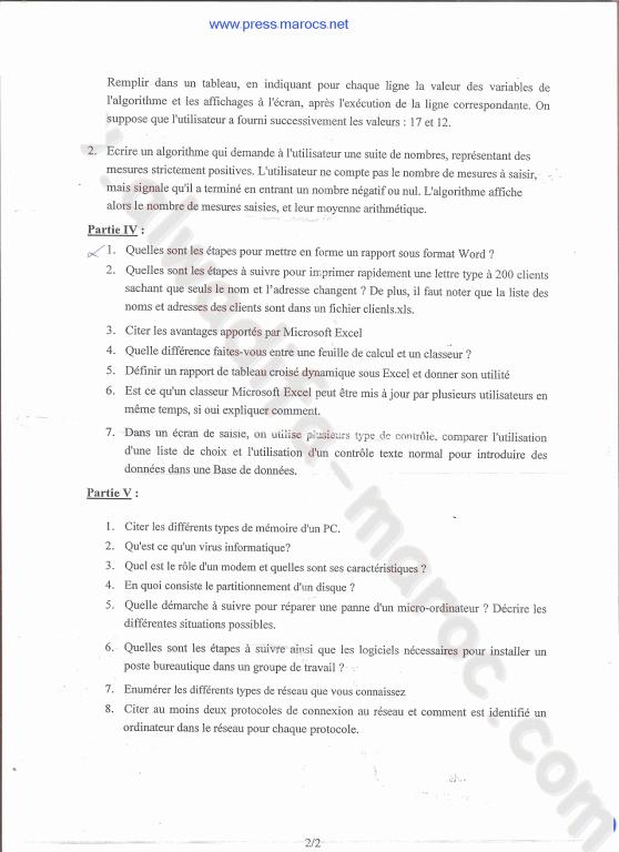 وزارة العدل: نموذج مباراة توظيف التقنيين من الدرجة الثالثة تخصص الإعلاميات دورة 15 يوليوز 2007 E7c190218d13509347c02f4db6a715fca9c0c48e40acf170db561e0d640e70c66g