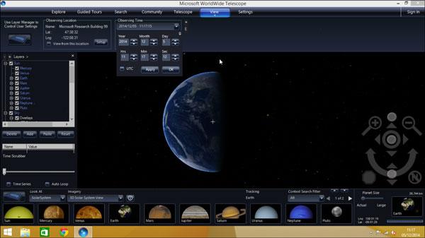 WorldWide Telescope 5.2 for Windows Vues-terre