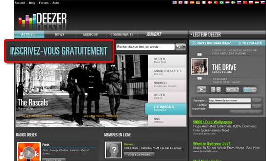 Deezer : la musique gratuite, illimitée et légale Deezerinscription