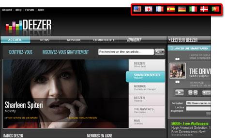 Deezer : la musique gratuite, illimitée et légale Dezzerlangue