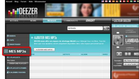 Deezer : la musique gratuite, illimitée et légale Mp3deezer
