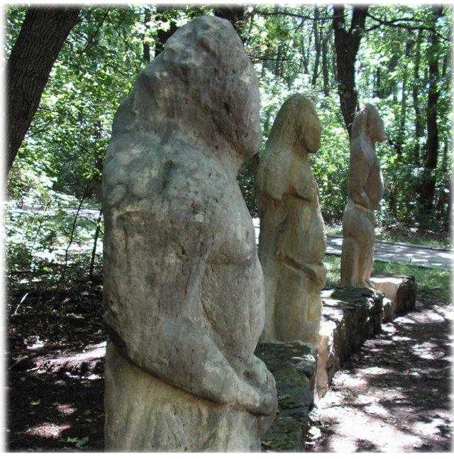 "Striking Ancient ""Stone Idols"" - The Forgotten Polovtsian Statues Of Eastern Europe Stoneidolseasteurope"