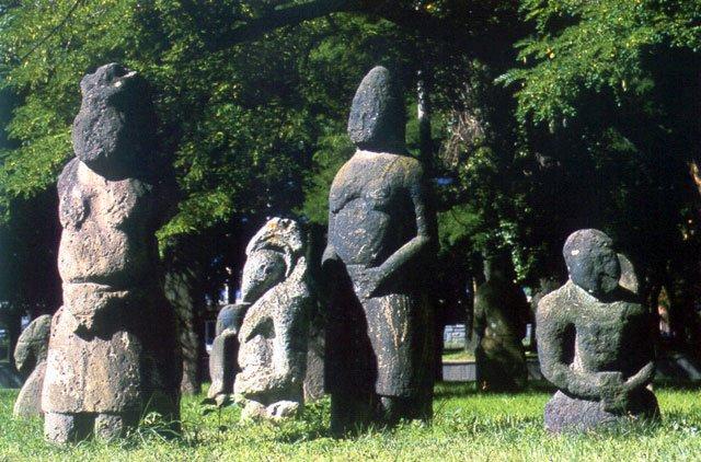 "Striking Ancient ""Stone Idols"" - The Forgotten Polovtsian Statues Of Eastern Europe Stonestatueseasteurope"