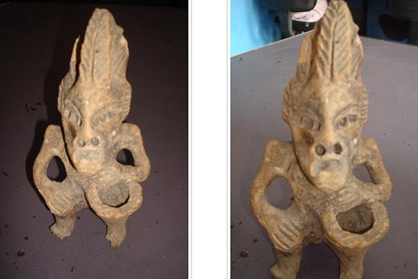 Very Curious Ancient Reptilian Humanoid Figure Discovered In Mexico Reptilianhumanoidmexico4