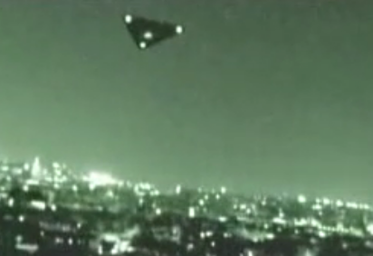 Secret TR-3B flying at high altitude caught on night vision camera  TR-3B-sighting