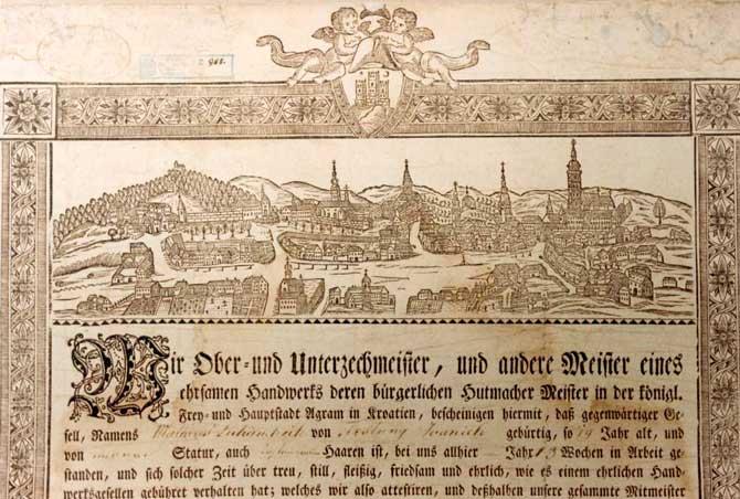 Povijest grada Zagreba Vedute-Zagreba-GMS-1