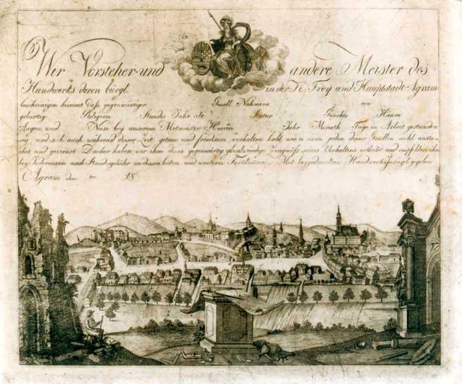 Povijest grada Zagreba Vedute-Zagreba-GMS-2
