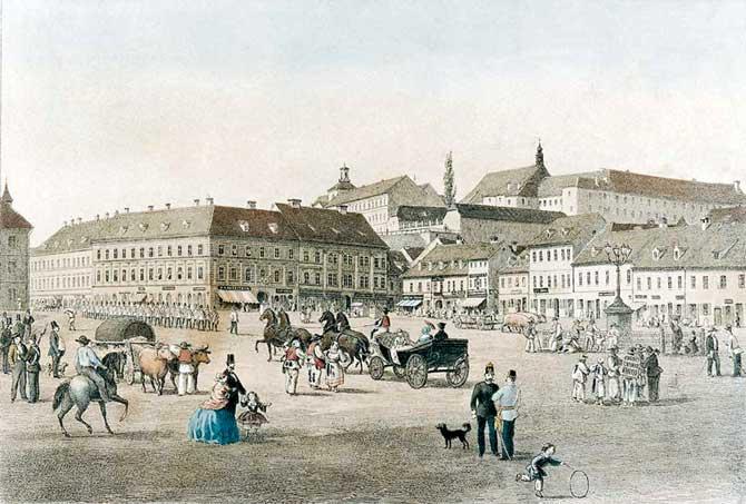 Povijest grada Zagreba Vedute-Zagreba-GMS-7