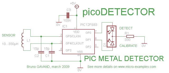 picoDetector : How to detect metal with a PIC 076-PICODETECTOR-metal_detector_circuit_schematic