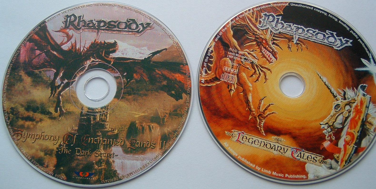 Contrafacção de álbum em CD Rhapsody_02