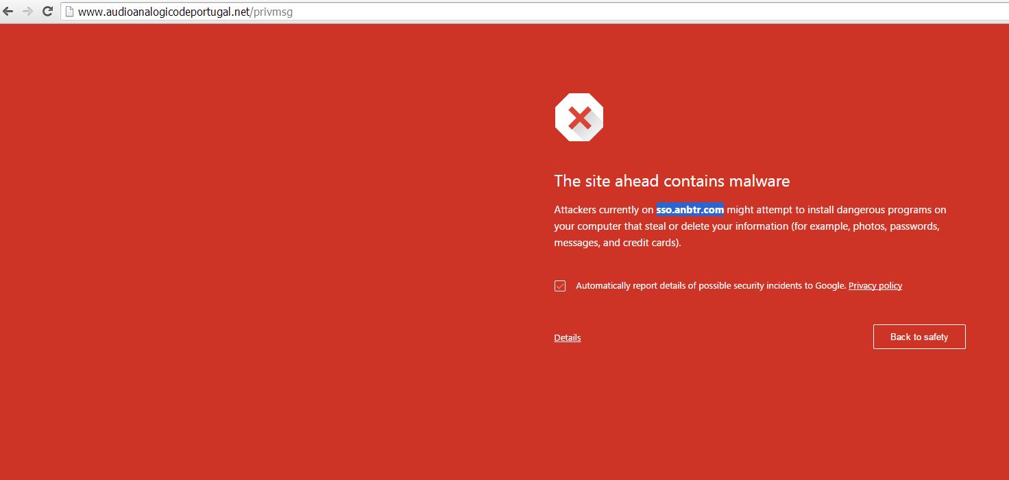 Alguem recebeu este aviso sobre Malware? App_ataque