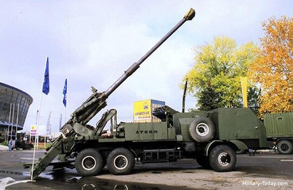 systèmes d'artilleries autotractés et autopropulsés Atrom
