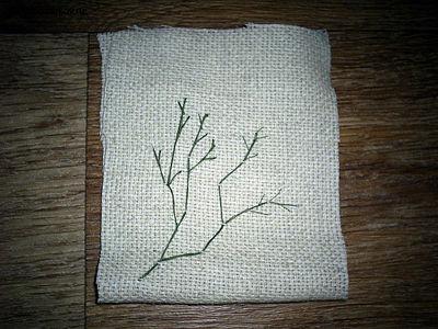 Поделка из атласных ленточек «Аромо-саше с вышивкой» PIC_0112