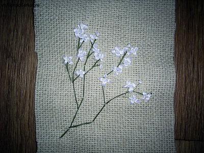 Поделка из атласных ленточек «Аромо-саше с вышивкой» PIC_01881