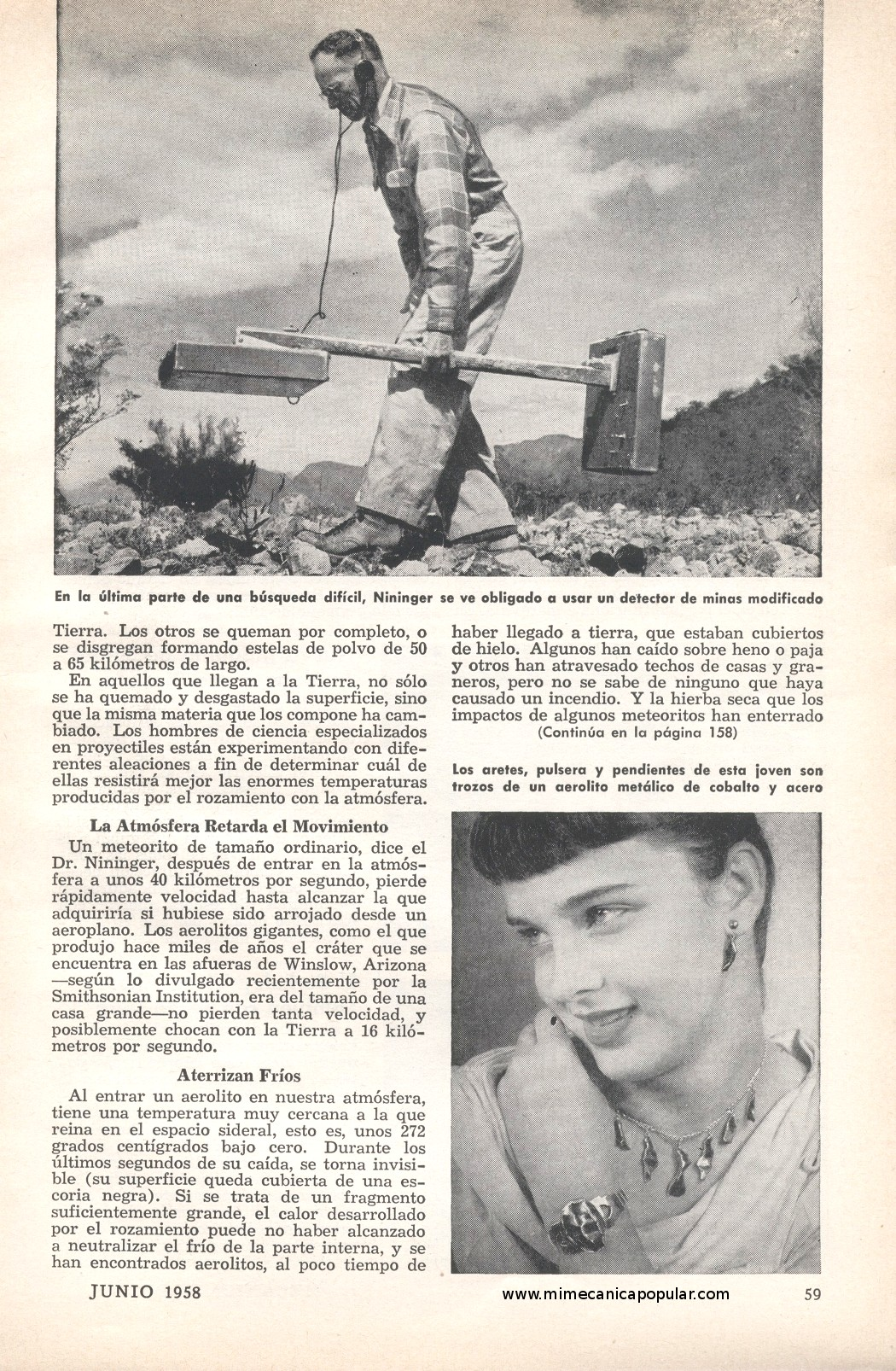 La búsqueda de meteoritos. Busqueda_de_meteoritos_junio_1958-02g