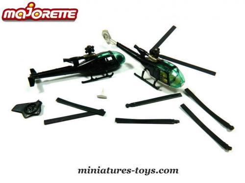 N°371 hélicoptère gazelle 500_______majorette_helicoptere_gazelle_lot_em_x2_a_20792