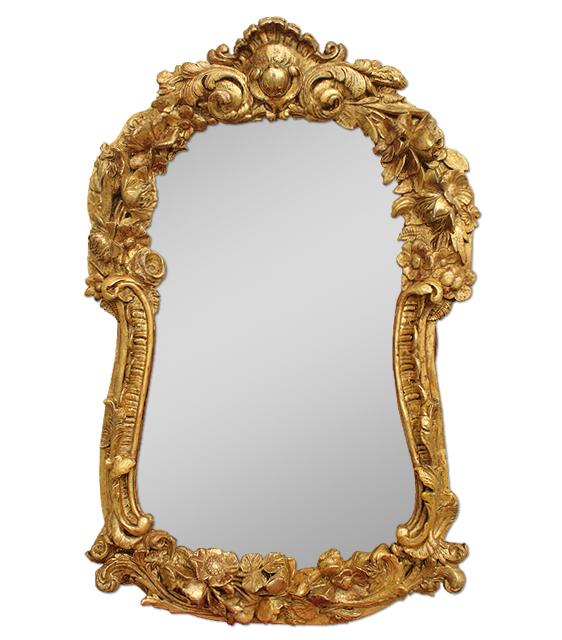 L'enfant devant un miroir touche la tendresse avec sa tendresse/pour l'adulte c'est très différent/ Miroir-ancien-dore-or-fin