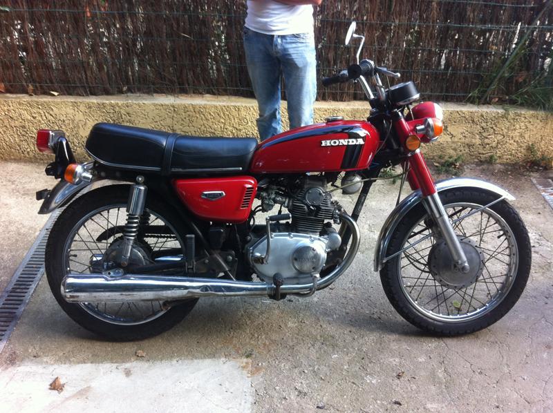 En route pour la galère avec ma vieille mais belle K5 HondacbK5