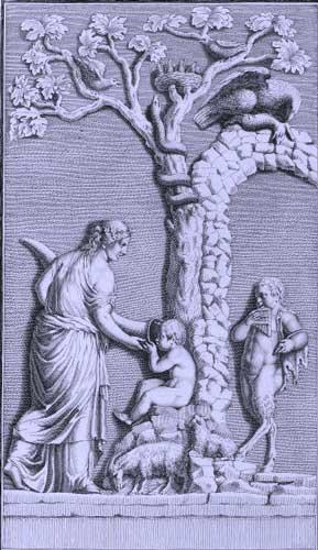El uso del cuerno en las recreaciones JupiterCornucopia