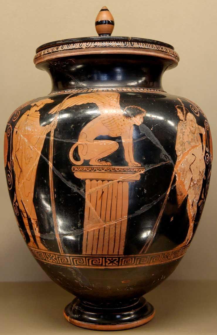أساطير أغريقية .... - صفحة 3 OedipusSphinxLouvreG417F
