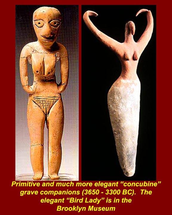 figuras femeninas de la fertilidad EGtkw0147MesolithicNaqadaIIConcubines