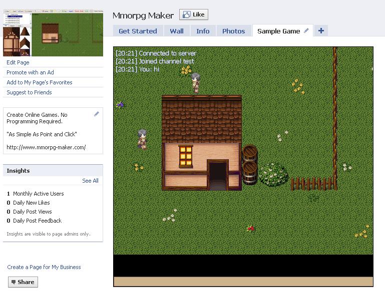 MMORPG Maker - Criador de MMO's de browser Fbmmo