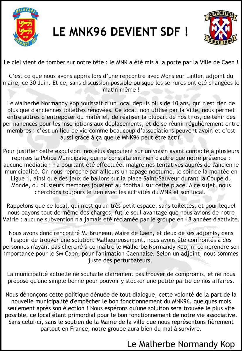 Le MNK devient SDF ! Com-mnk11-08-2014