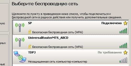 МТС: Универсальный роутер Fast 2804 Wifi-network-scr