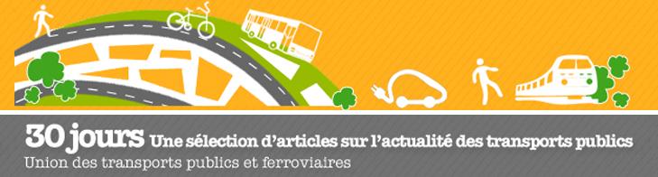 Mobilité, transports publics, SNCF, TER... une sélection d'articles publiés en janvier 2015  Newsletter_30Jours_header