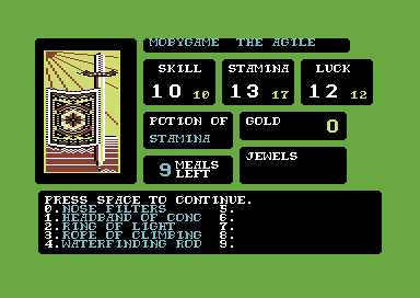 La Forêt de la Malédiction - Page 7 169987-the-forest-of-doom-commodore-64-screenshot-stocking-up-with