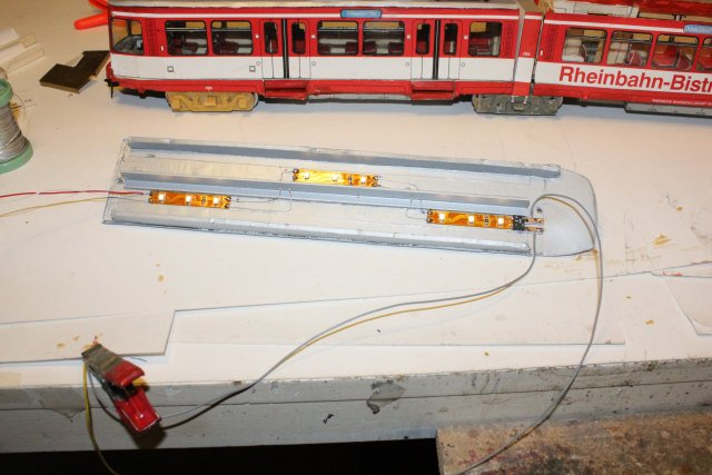 Strassenbahn - Bastelbogen Hp2718