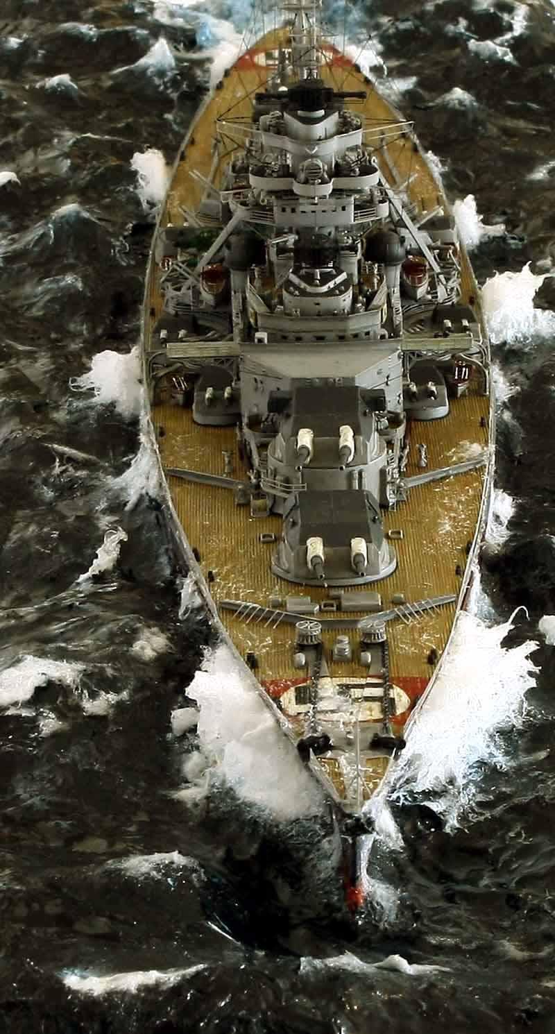 Bismarck 1/350 tamiya UP le 30/01/2018 montage terminé  Bismarck-22