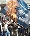 photos du hamas et du hezbollah (terrorisme islamique) Flag-brule