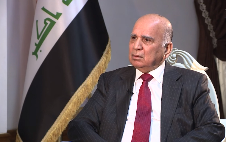 Deputy Prime Minister Fuad Hussein takes part in a meeting via closed-circuit television on the health situation in Iraq and the region and the Ministry of Finance's support for the efforts of the Ministry of Health and the crisis cell Untitled
