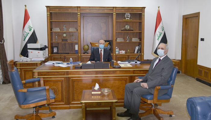 The Minister of Finance receives the Tunisian ambassador to Baghdad 45665
