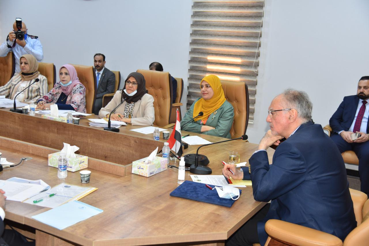 The Minister of Finance: discusses with the government performance evaluation team of the Council of Ministers the program for developing the performance of the ministry 6