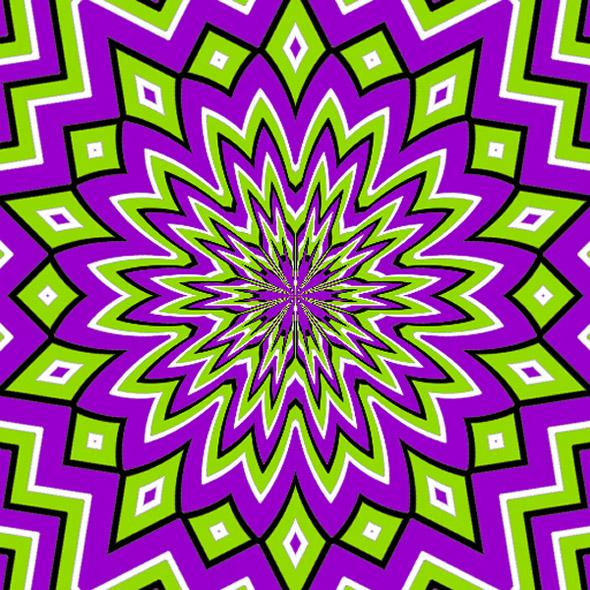 Vira a tua visão e TUDO mexe... Incrível! Purple-nurple