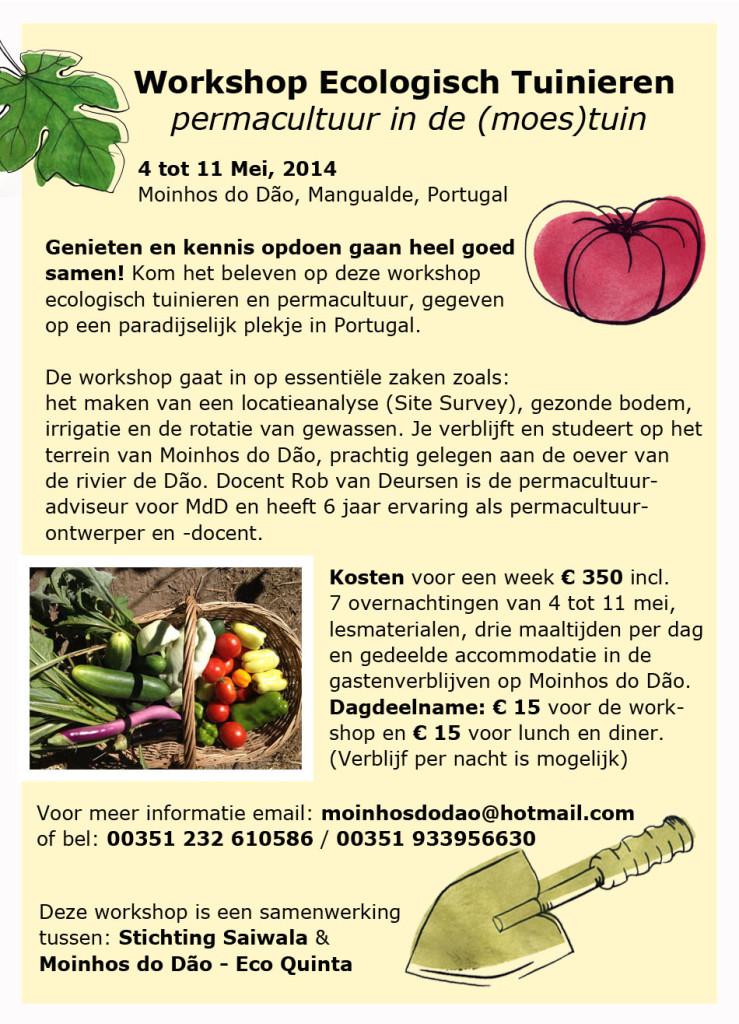 Lente Workshop Permacultuur in Portugees Paradijsje. Workshop-flyer-NL-739x1024