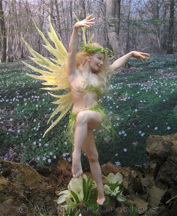Immagini di sculture in cera e polimeri vari  (fantasy) Nr15springdance