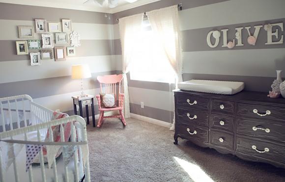 chambre enfant: mixe peinture et papier peint? Chambre-bebe-Olive-1