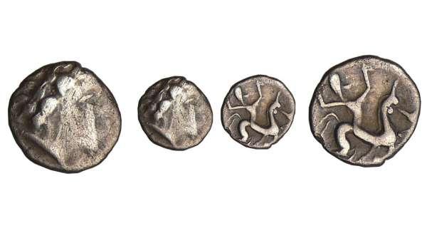 aide identification 3 oboles gauloises en argent Bituriges-cubes-obole-cavaliere-z180973
