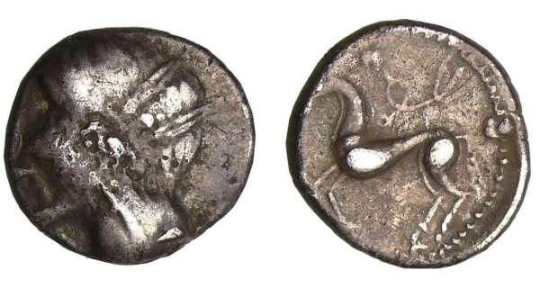 partie détachée d'un anneau Imitation-emporia-drachme-cheval-z180950