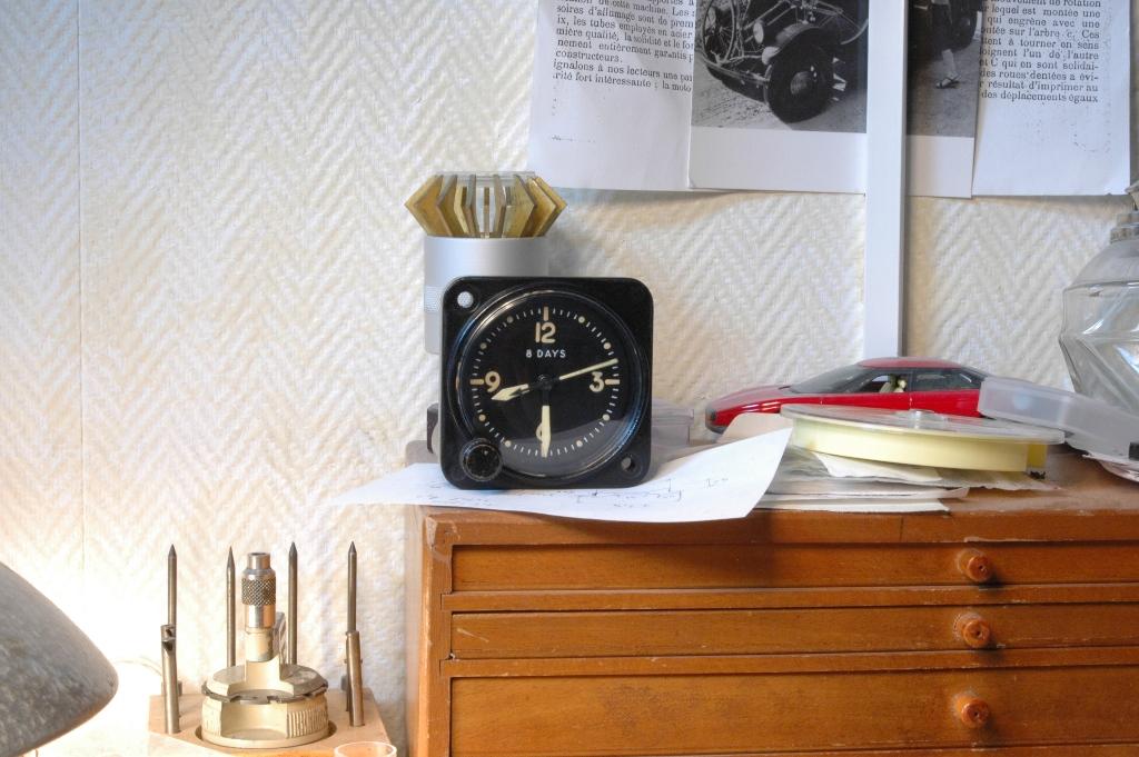 """Restauration montre de bord d'avion """"B&R style"""" Pendule_de_bord_waltham_46"""